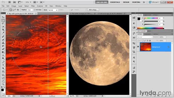 Copy and paste versus drag and drop: Photoshop CS5 One-on-One: Fundamentals
