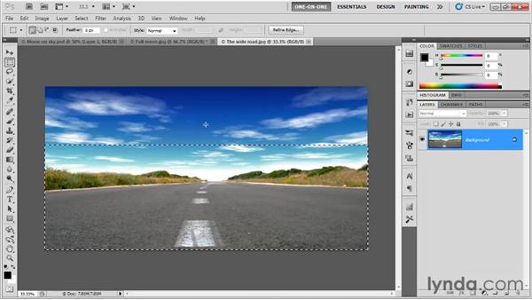 Creating a graduated selection: Photoshop CS5 One-on-One: Fundamentals
