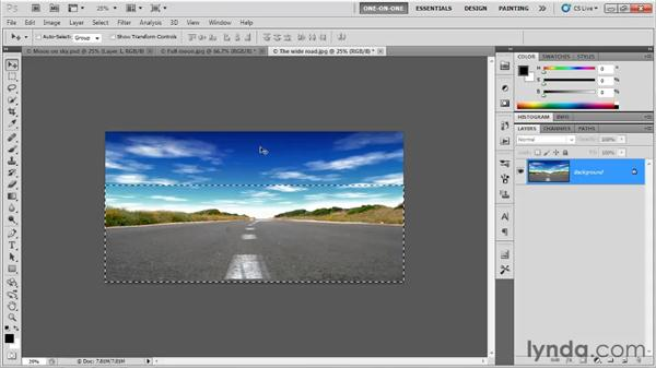 Aligning one image with another: Photoshop CS5 One-on-One: Fundamentals