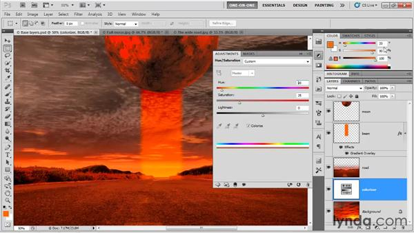 Dressing up a composition with effects: Photoshop CS5 One-on-One: Fundamentals