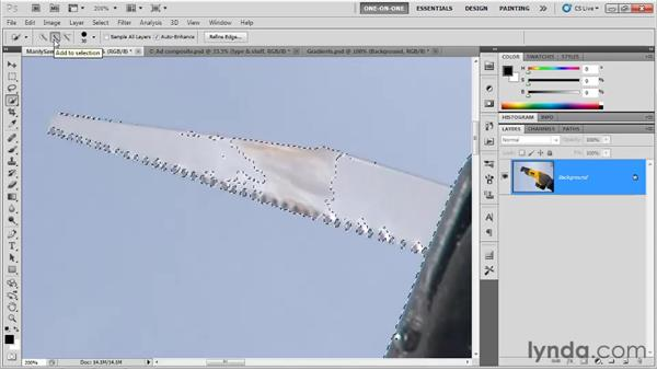 Quick selection and the Magnetic Lasso: Photoshop CS5 One-on-One: Fundamentals
