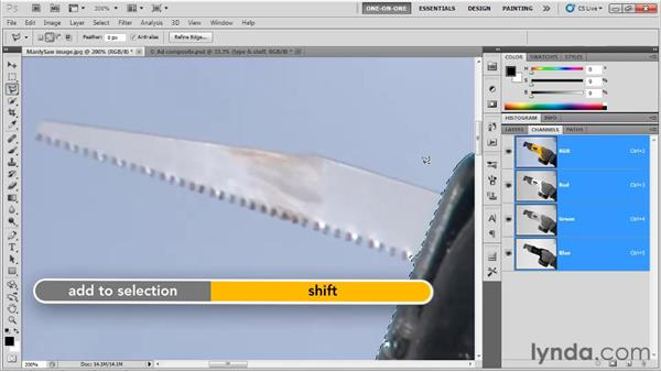 Evaluating a selection in Quick Mask: Photoshop CS5 One-on-One: Fundamentals