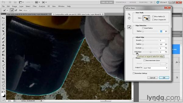 Eliminating edge fringing: Photoshop CS5 One-on-One: Fundamentals