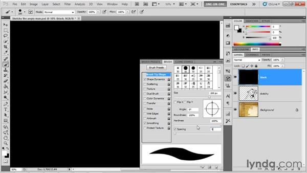 Working with spacing: Photoshop CS5 One-on-One: Fundamentals