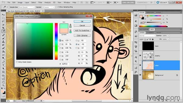 The heads-up Color Picker: Photoshop CS5 One-on-One: Fundamentals