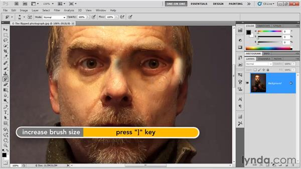 Setting the source for the History brush: Photoshop CS5 One-on-One: Fundamentals