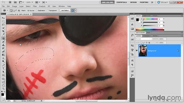 How healing works: Photoshop CS5 One-on-One: Fundamentals