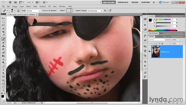 Introducing the Clone Source panel: Photoshop CS5 One-on-One: Fundamentals