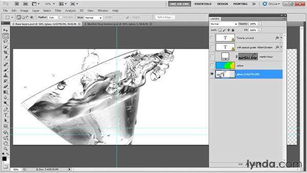 Making a new background layer: Photoshop CS5 One-on-One: Fundamentals