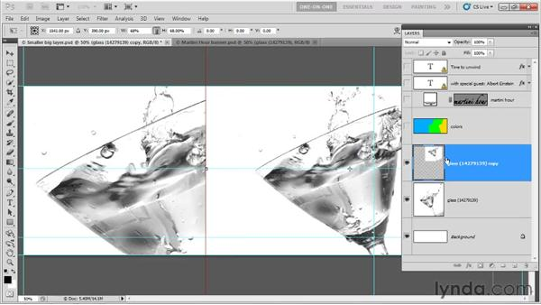 Transforming a copy and repeat: Photoshop CS5 One-on-One: Fundamentals