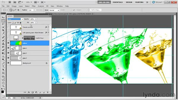 Stacking order and eyedropping a layer: Photoshop CS5 One-on-One: Fundamentals
