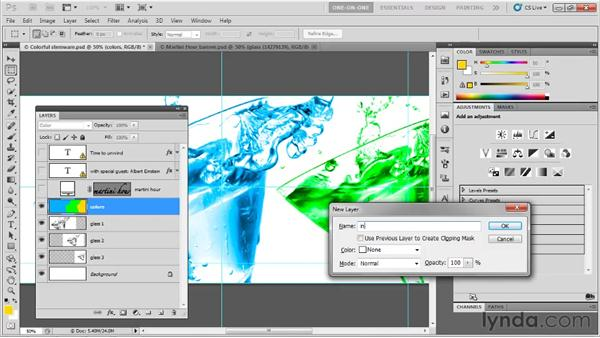 Adjusting multiple layers at once: Photoshop CS5 One-on-One: Fundamentals