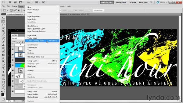 Blend mode and clipping mask: Photoshop CS5 One-on-One: Fundamentals