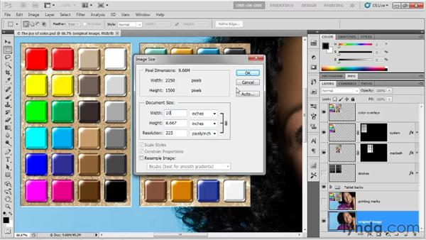 Gauging print size: Photoshop CS5 One-on-One: Fundamentals