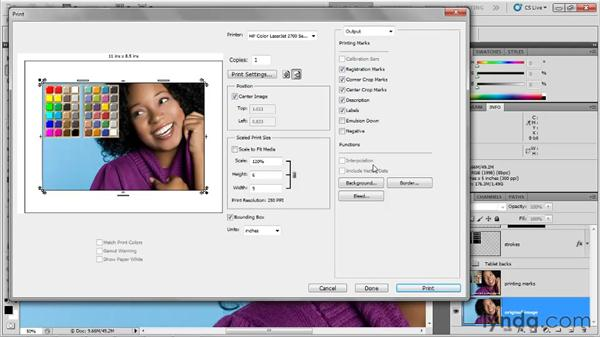 Introducing the Output options: Photoshop CS5 One-on-One: Fundamentals