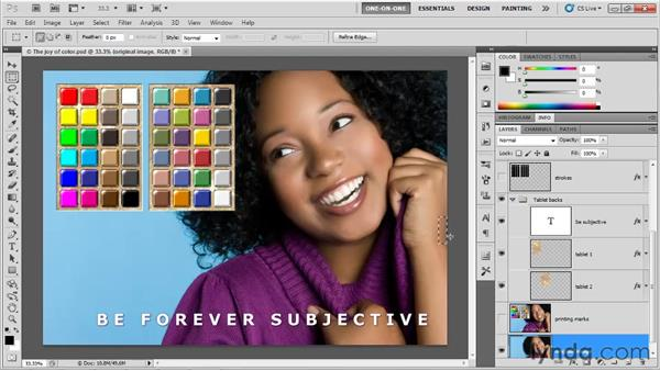 Establishing a bleed: Photoshop CS5 One-on-One: Fundamentals