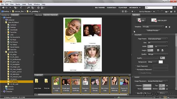Generating a PDF contact sheet: Photoshop CS5 One-on-One: Fundamentals