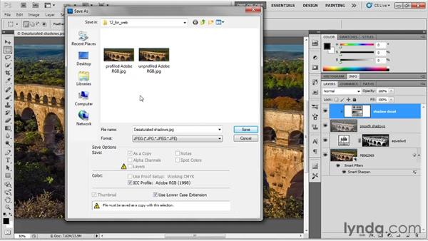 A first look at Save for Web: Photoshop CS5 One-on-One: Fundamentals