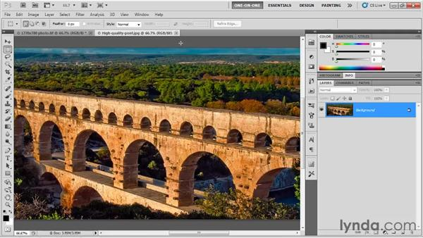 Working with an unprofiled RGB image: Photoshop CS5 One-on-One: Fundamentals