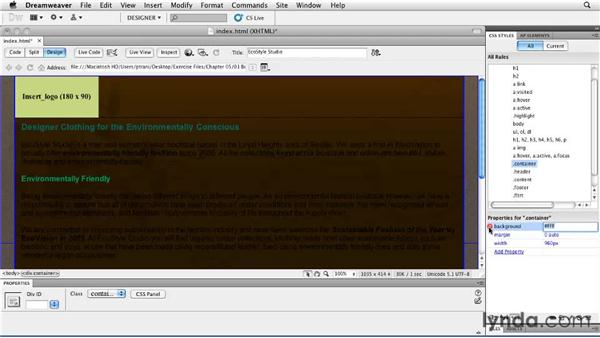 Inserting images: Creating a First Web Site with Dreamweaver CS5