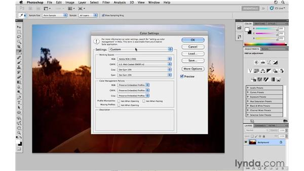 Choosing your color settings: Photoshop CS5 for Photographers