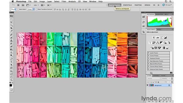 Customizing your workspace: Photoshop CS5 for Photographers