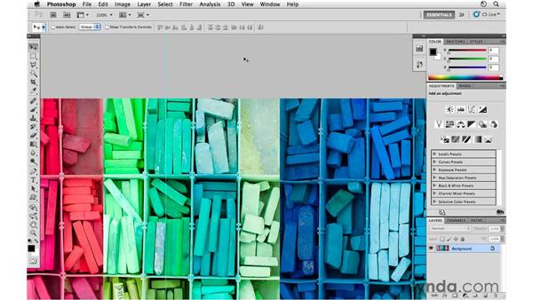 Working with the Application bar and Full Screen view: Photoshop CS5 for Photographers