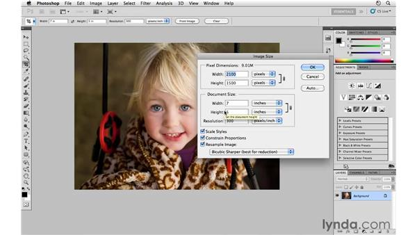 Resizing by cropping: Photoshop CS5 for Photographers