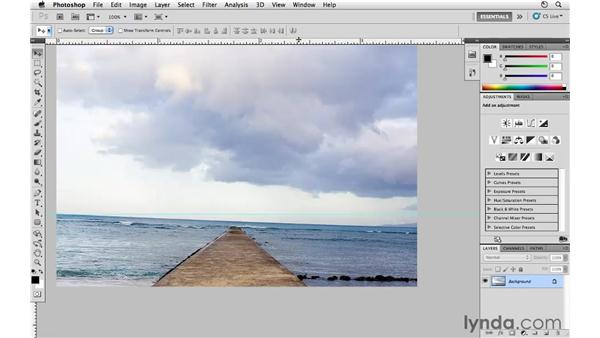 Straightening an image: Photoshop CS5 for Photographers