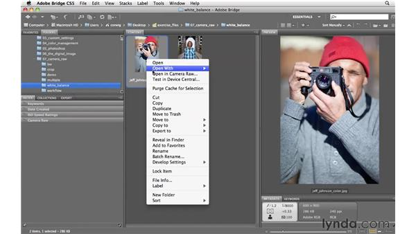 Opening images in Camera Raw: Photoshop CS5 for Photographers