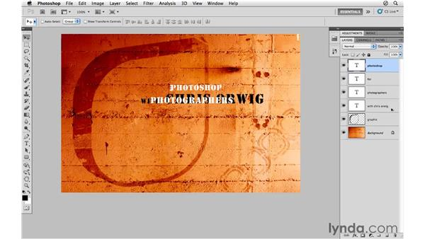 Targeting and moving layers: Photoshop CS5 for Photographers