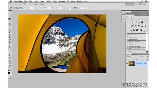Using the Magnetic Lasso tool: Photoshop CS5 for Photographers