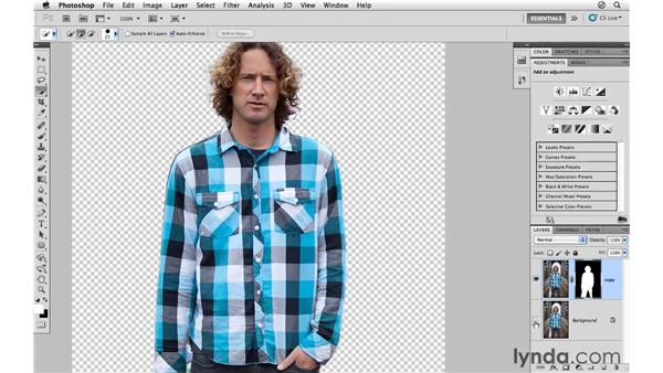 Refining masked edges: Photoshop CS5 for Photographers