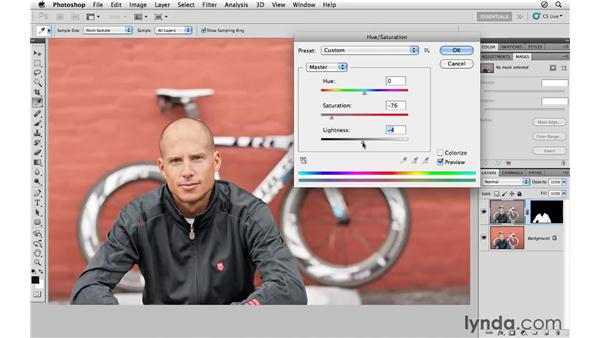 Changing a color using a mask: Photoshop CS5 for Photographers