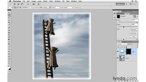 Creating a custom border using masking: Photoshop CS5 for Photographers