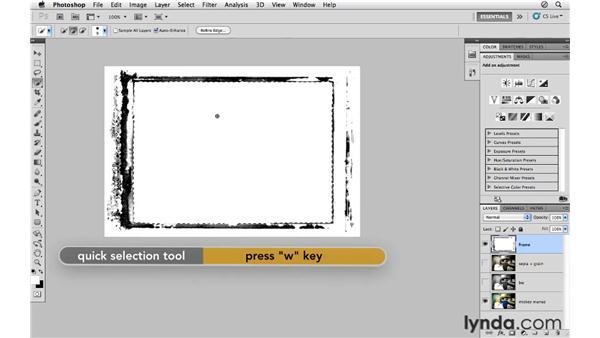 Using pre-built borders: Photoshop CS5 for Photographers