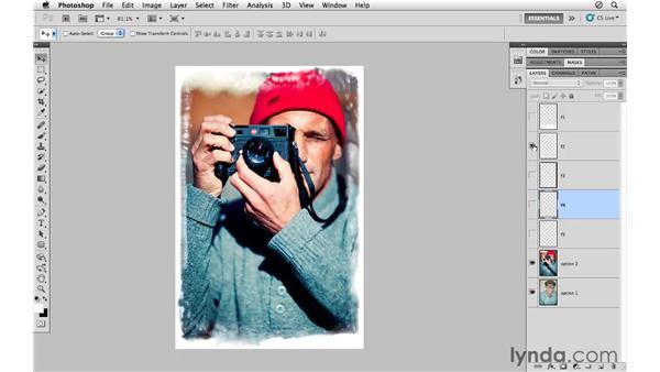 Exploring sample image frames: Photoshop CS5 for Photographers