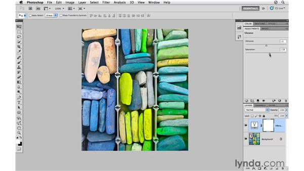 Working with vibrance and saturation: Photoshop CS5 for Photographers