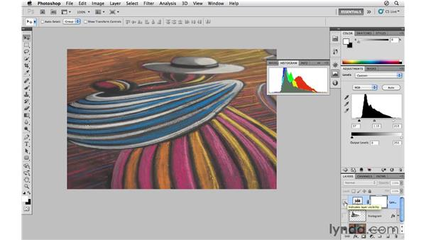 Enhancing color and tone with levels: Photoshop CS5 for Photographers