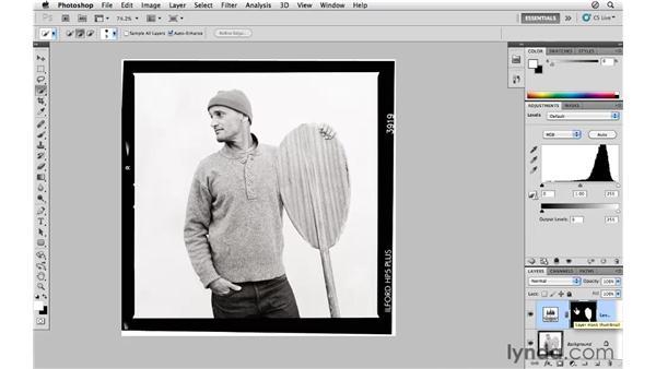 Using levels and masking: Photoshop CS5 for Photographers