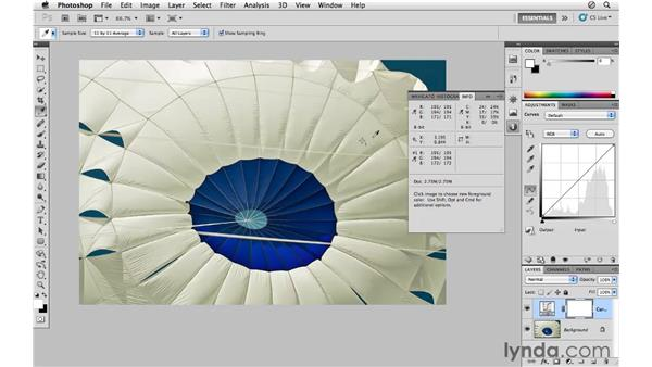 Correcting color with the eyedroppers: Photoshop CS5 for Photographers
