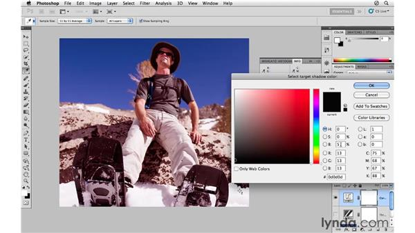 Correcting color and tone with the eyedroppers: Photoshop CS5 for Photographers