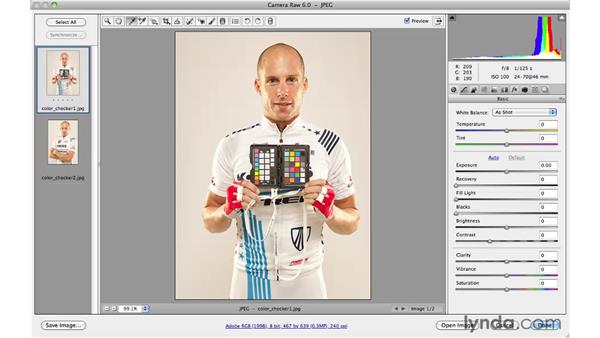 Camera Raw color correction with a color chart: Photoshop CS5 for Photographers