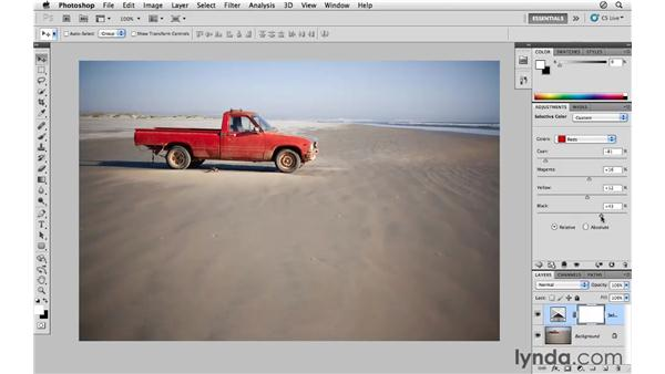 Modifying color with Selective Color: Photoshop CS5 for Photographers