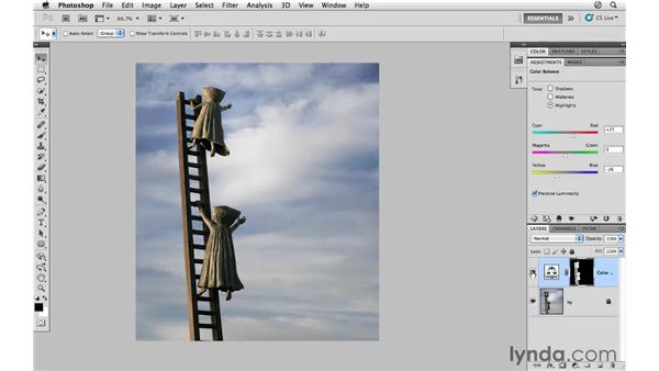 Using Color Balance, selections, and masks together: Photoshop CS5 for Photographers
