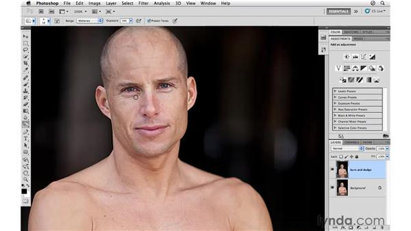 Using the Burn and Dodge tools: Photoshop CS5 for Photographers