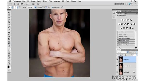 Enhancing dimension with the Burn and Dodge tools: Photoshop CS5 for Photographers