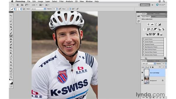 Using Soft Light for burning and dodging: Photoshop CS5 for Photographers