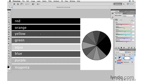 Introducing black-and-white conversion: Photoshop CS5 for Photographers