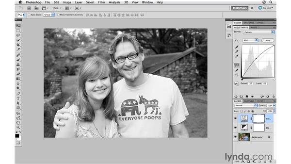 Converting a portrait to black-and-white: Photoshop CS5 for Photographers